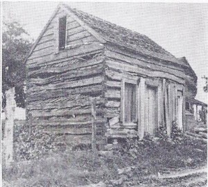 Old Log House, second church bldg, 1881-1889